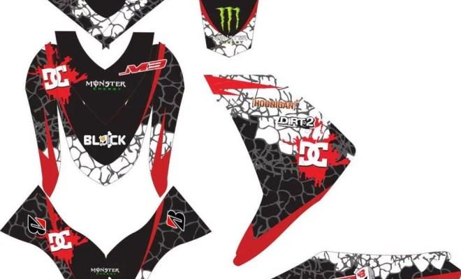 Stiker MIO M3 KEN BLOCK HOONIGAN v2