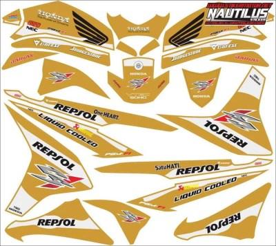 Stiker cs1 repsol final gold