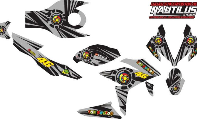 Stiker new CBR150R FACELIT vr46 sun&moon