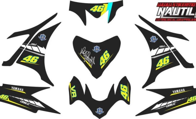 Stiker new jupiter mx rossi moto gp