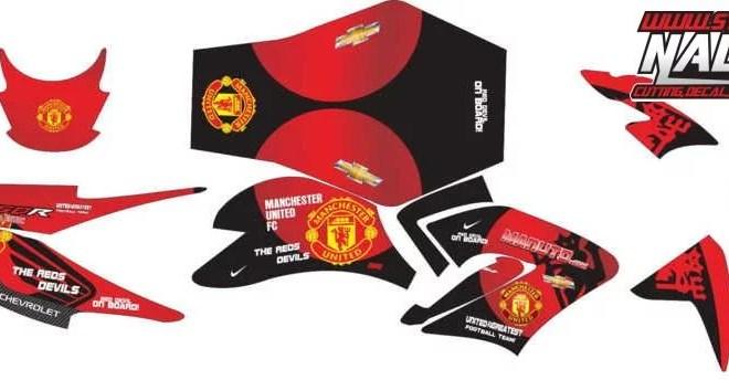 Stiker cb 150 manchester united
