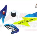 Stiker aerox 155 shark blue