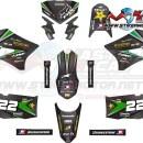 stiker klx rockstar carbon green