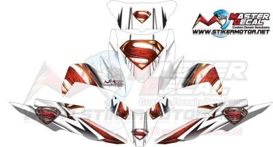 Stiker all new beat esp superman