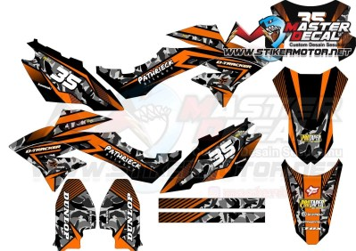 Stiker d-tracker tribal orange