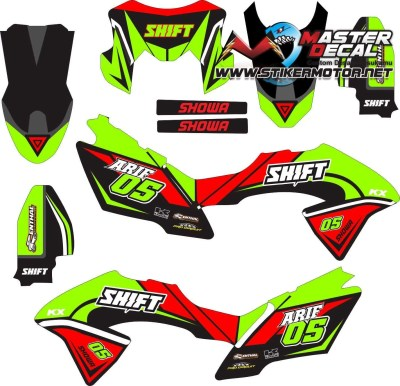 Stiker klx bf shift