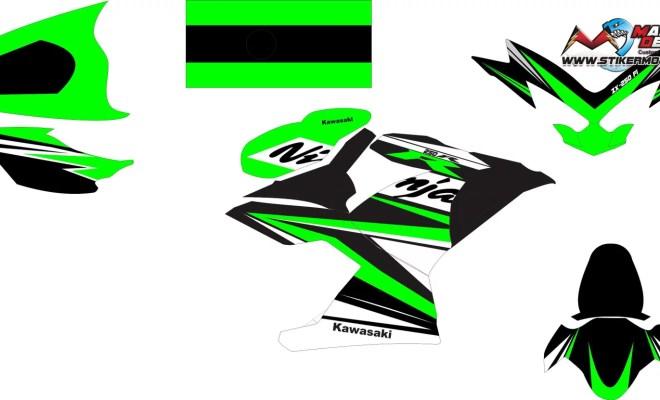 Stiker ninja fi 250 2018 v2