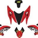 Stiker aerox 155 shark red