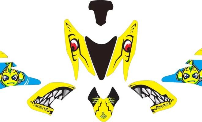 Stiker aerox 155 shark v6