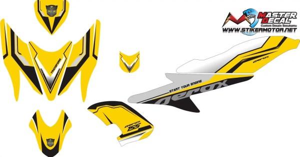 Stiker aerox 155 street racing yellow
