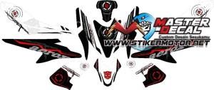 Stiker aerox 155 transformer