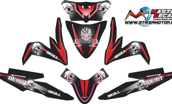 Stiker all new beat esp SKULL