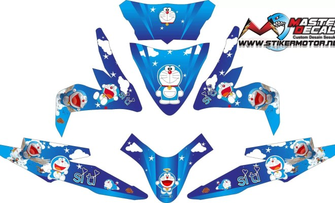Stiker all new beat esp doraemon v2 req