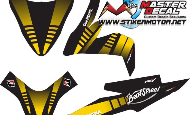 Stiker all new beat esp street tech 3