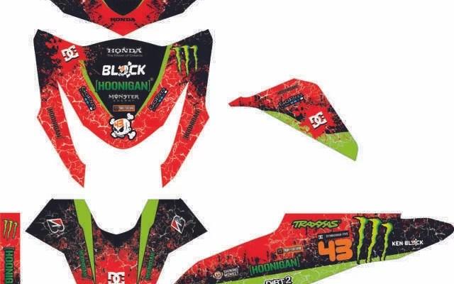 Stiker BEAT fi hoonigan monster energy merah hijau (FILEminimizer)