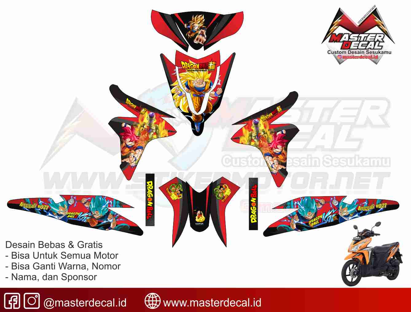 Stiker motor honda all new beat street esp owl v2 stikermotor net customize without limit
