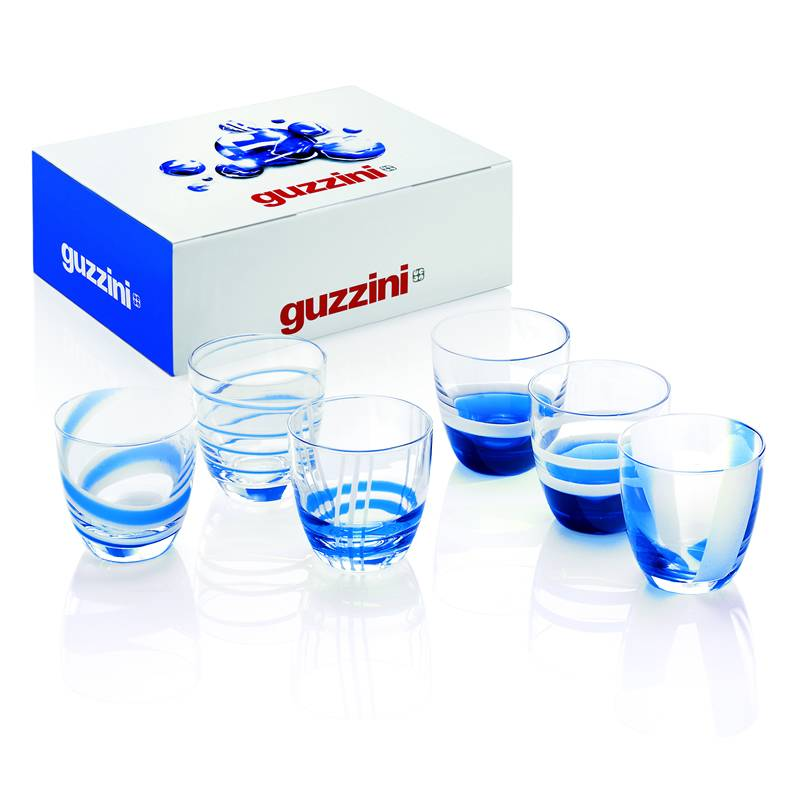 Bicchieri Acqua 6pz Table Art  Guzzini  StilcasaNet set di bicchieri