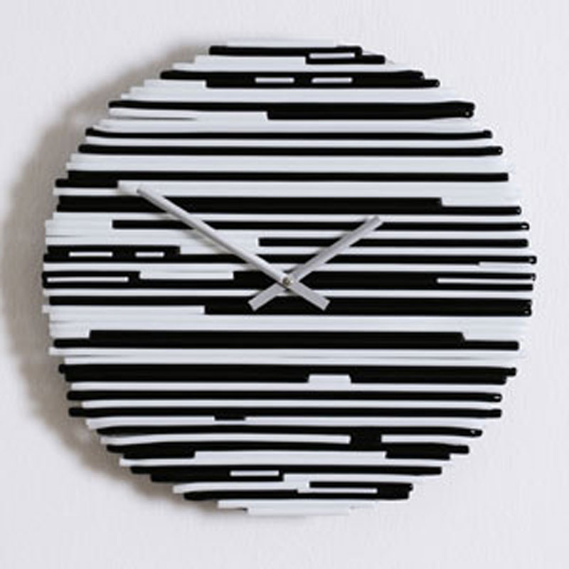 Orologio da parete ARLECCHINO Bianco e Nero diametro 40