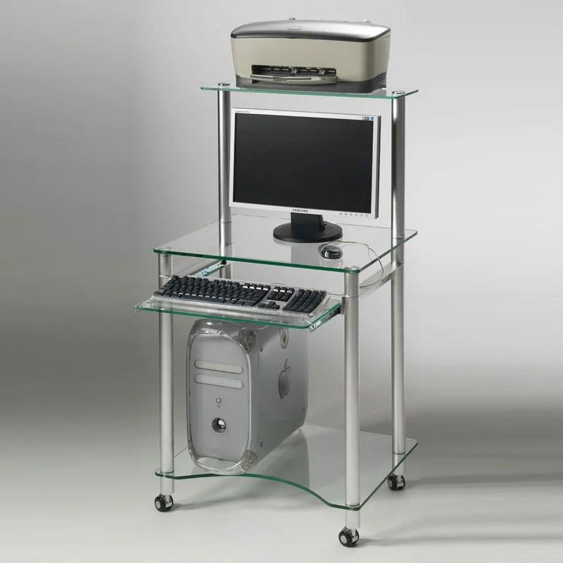 Porta PC con ripiano per stampante struttura e ripiani in