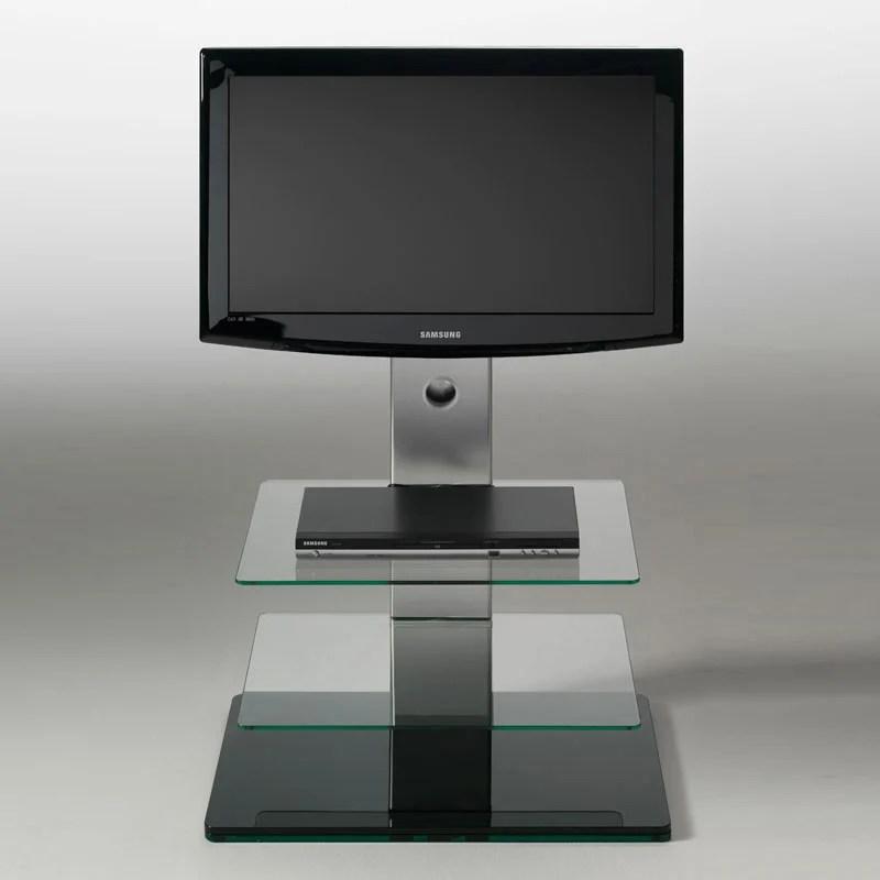 Porta TV con 2 ripiani in vetro temperato TURN girevole 15