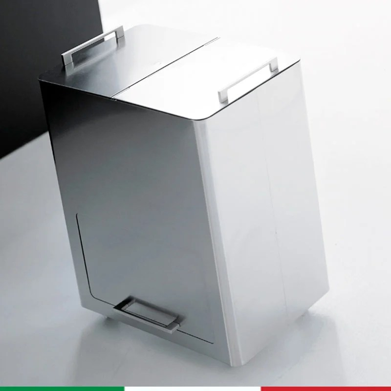 Bidone Pattumiera 55x36xh69 cm  L58 per la Raccolta Differenziata a due contenitori estraibili