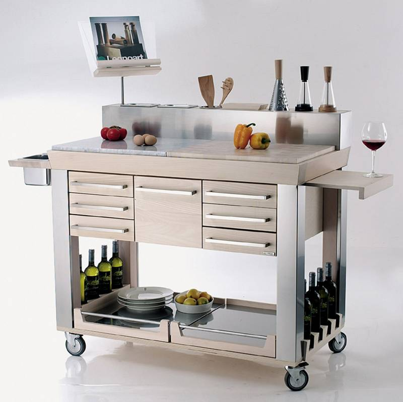 Carrello da cucina Platinum  Legnoart  StilcasaNet