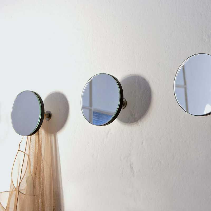 Appendini da muro ArtUp Mirror realizzati in stratificato indeformabile con perno di fissaggio
