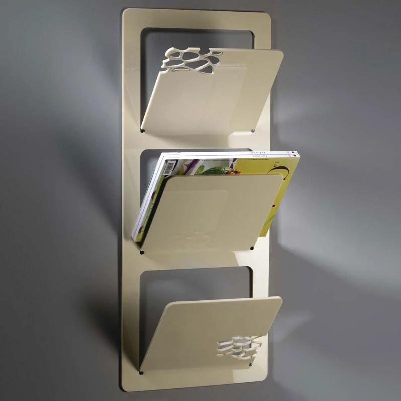 Portariviste da muro 31x9xh72 cm Wally Stone in plexiglas bicolore spessore 5 mm  Vesta