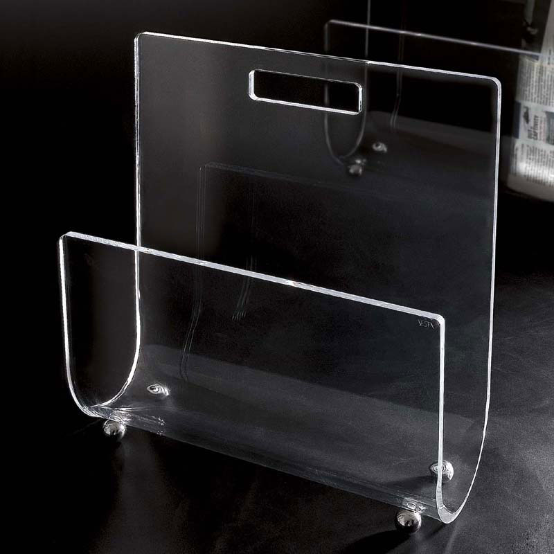 Portariviste 32x11xh34 cm Magazine in plexiglass