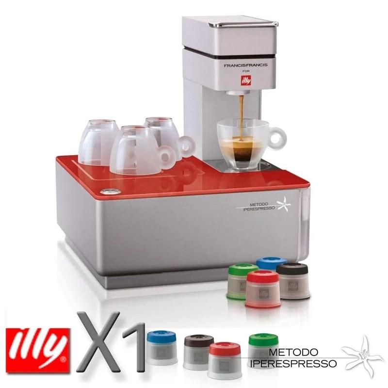 Macchina da caffe a capsule Iperespresso Y1 Red  illy