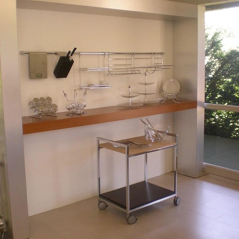 Barra da cucina portautensili lunghezza 120 cm diametro 1
