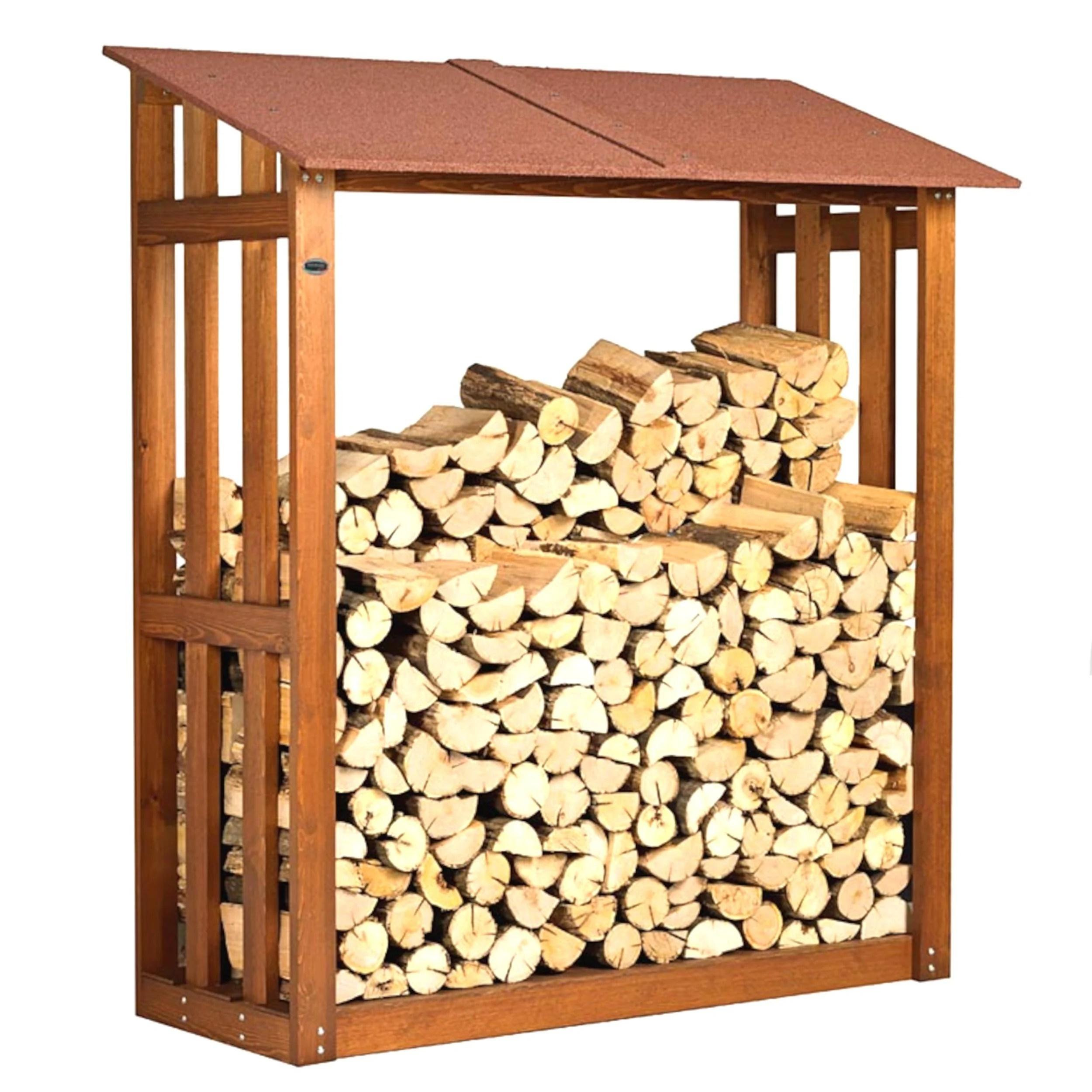 Portalegna Legnaia in legno con Tettino 180x70xh 180 cm