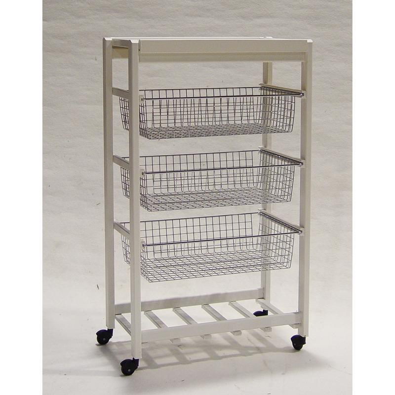 Carrello da cucina ARTU 49x30xh85 cm Colore Bianco in