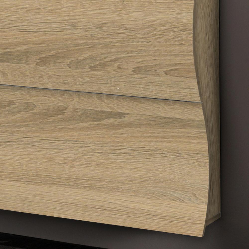 Scarpiera 2 ante 110x27xh82 cm in legno Laccato Rovere