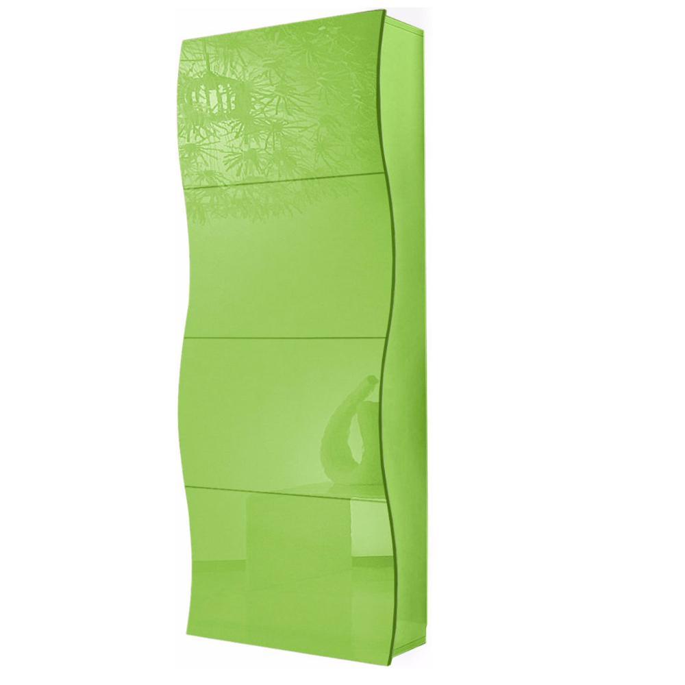 Scarpiera 4 ante 71x28xh162 cm in legno Verde Lucido ONDA