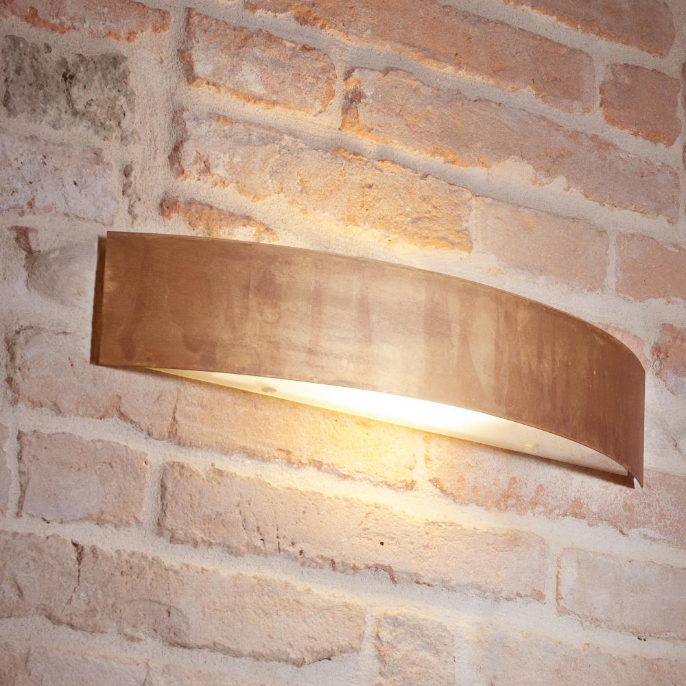 Applique da Muro LOLA 48x10xh9 cm in Ottone ossidato  Gibas  StilcasaNet plafoniere