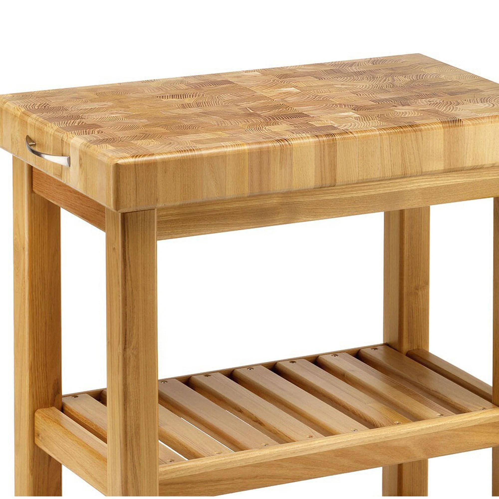 Carrello da cucina in legno massello 70x40xh85 cm con