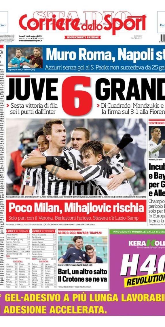 La Une du Corriere Dello Sport