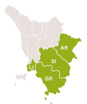 Il territorio dell' Ato Toscana Sud