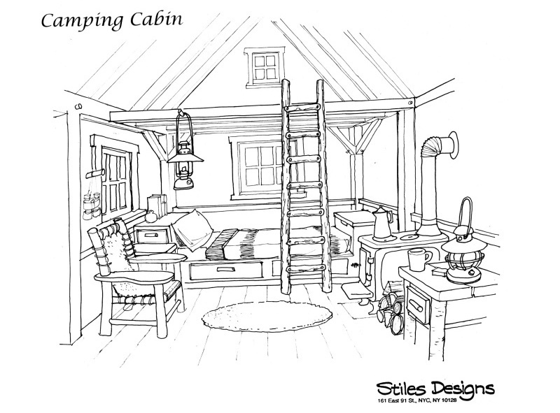 Interior Shed Sketches.
