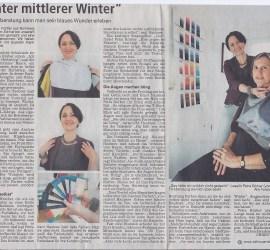 Mittlerer bunter Winter, Bei der Farbberatung kann man sein blaues Wunder erleben, Nürnberger Nachrichten vom 16. Dezember 2013