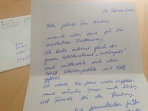 Dankschreiben Farbberatung bei Stil in Nürnberg