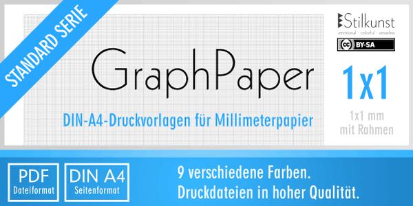 Druckvorlage Din A4 Graphpaper Millimeterpapier