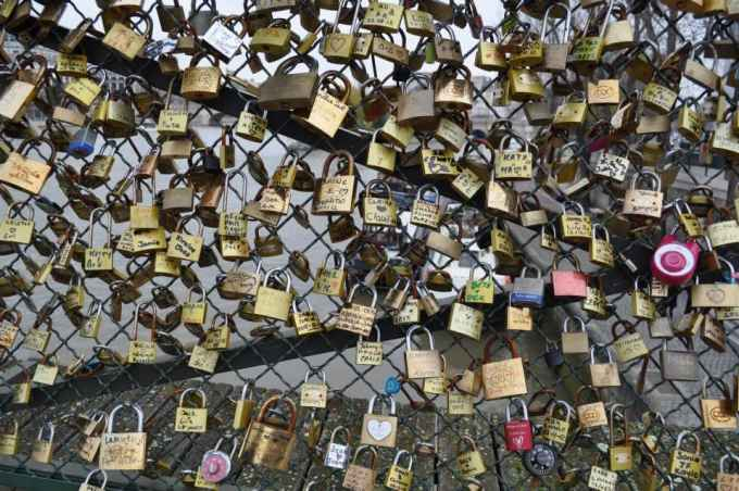 Love bridge Paris