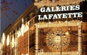 Galeries Lafayette Christmas Lights in Paris