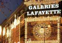 Galeries Lafayette Christmas Lights in Paris
