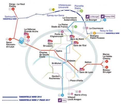 Paris Flughafen Karte