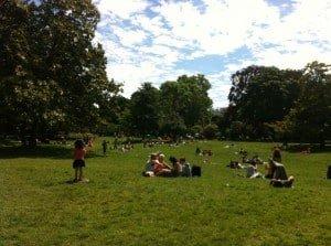 Monceau park Paris in June
