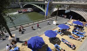 Paris plage in July inParis