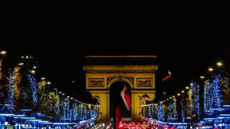Luces Navideñas de los Campos Elíseos en París